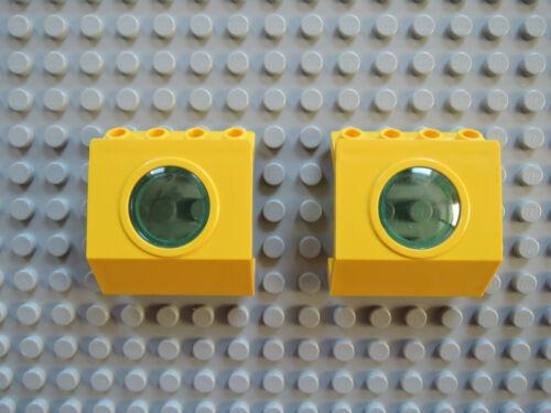 Lego 2 x Panel Fenster mit Bullauge 30080  gelb  4x3x3   6441 6442  6560
