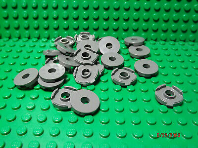 A-29 ** 25 CT LOT **  Lego NEW dark bluish gray 1 x 2 slope W// 4 slots pieces