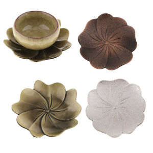 Blossom Shape~Alloy Teacup Coaster Coffee Cup Mat for Kung Fu Tea