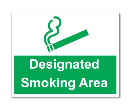 Zona fumatori designato Adesivi Auto Furgone Camion Taxi AUTOCARRO Arenato
