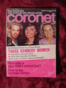 CORONET-January-1971-KENNEDY-PEARL-BUCK-SHIRLEY-JONES-Johnny-Unitas-Joe-Namath