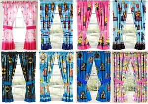 Kids Girls Boys Window Curtains Drapes Multiple Disney Characters Tv Characters Ebay