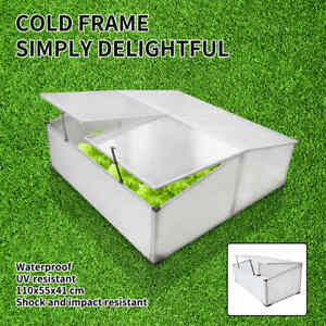 Garden 2 Lids Greenhouse Cover Aluminium Cold Frame Hot House Shed 2 Sizes