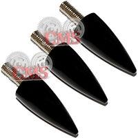 3 Black Fat Spike Windshield Bolt For 96-13 Harley Electra & Street Glide