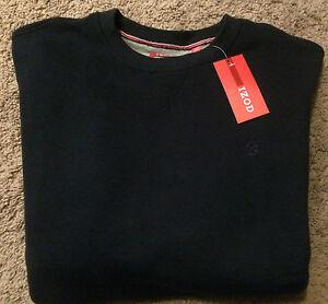 NWT Izod Men/'s Sueded Fleece Sweatshirt Colony Blue Size S MSRP $50***********