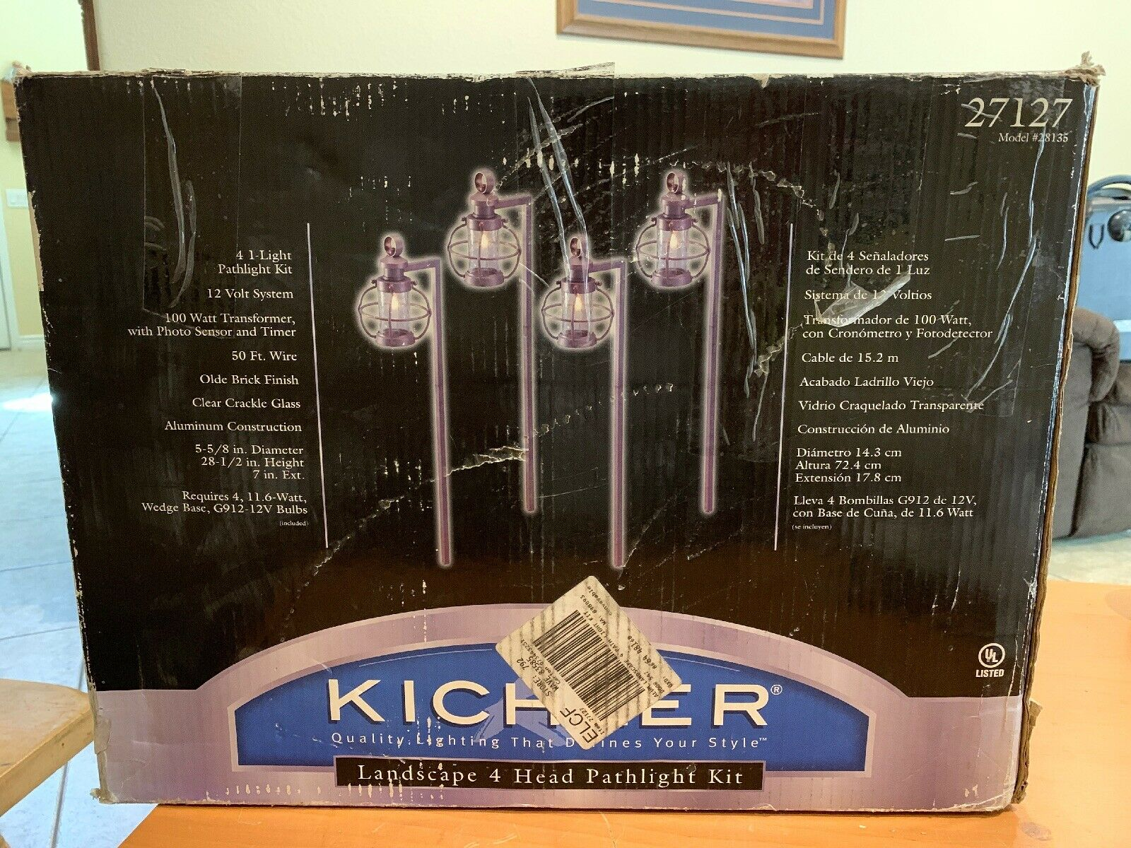 Kichler Lighting 4 Light Pathlight Kit 27127 Copper 28135