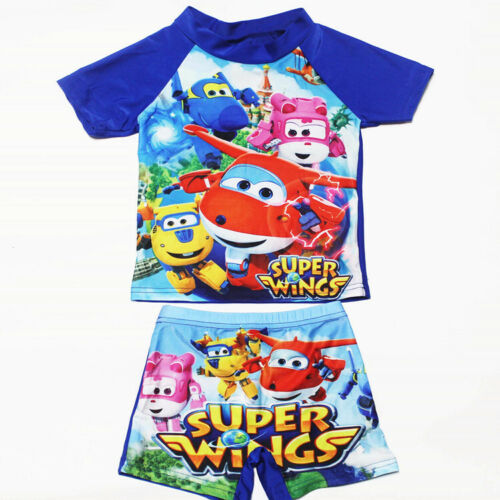 Boys Girls Kids Character Sun Safe Swimsuit Swimwear Surf Suit Costume Uv Safe