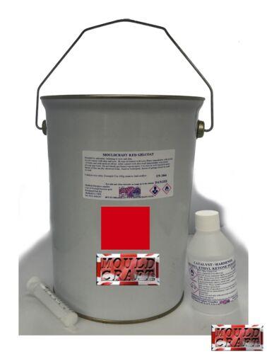 Marine Lloyds Appoved etc FOR FIBREGLASS moulds SIGNAL RED GELCOAT 5kg kit