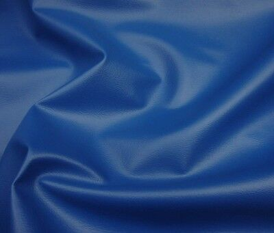 """Upholstery vinyl Faux Leather fabric Royal Blue contract sold  per yard 54"""" wide"""