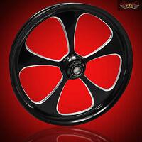 Harley Davidson Road King 30 Inch Custom Front Wheel 5 Blade Black
