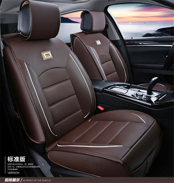 Deluxe Car Interior Accessories Pu Leather Seat Cover Full Set