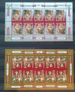 Latvia Miniature Sheets-Europa_95-Lacplesis and witch Spidola(with abart) - MNH