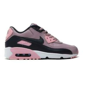 nouveau style 95c02 a7b45 Details about Juniors NIKE AIR MAX 90 LTR Rose Trainers 833376 602