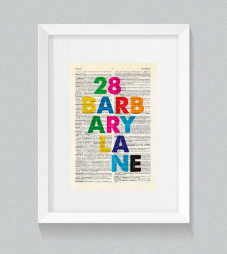 28 Barbary Lane Tales of the City Netflix Lettres vintage Dictionnaire print art