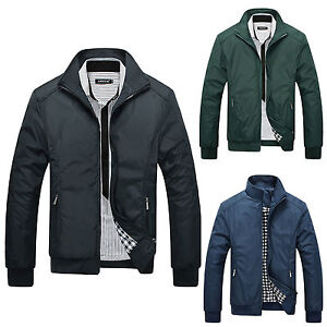 Fashion-Mens-Winter-Slim-Stand-Collar-Jacket-Flight-Bomber-Casual-Coat-Outerwear