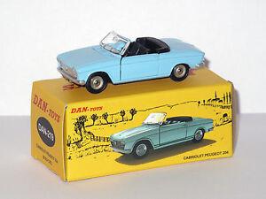 DAN-TOYS-Peugeot-204-Cabriolet-Bleu-ciel-Portes-et-capot-ouvrants-DAN-219