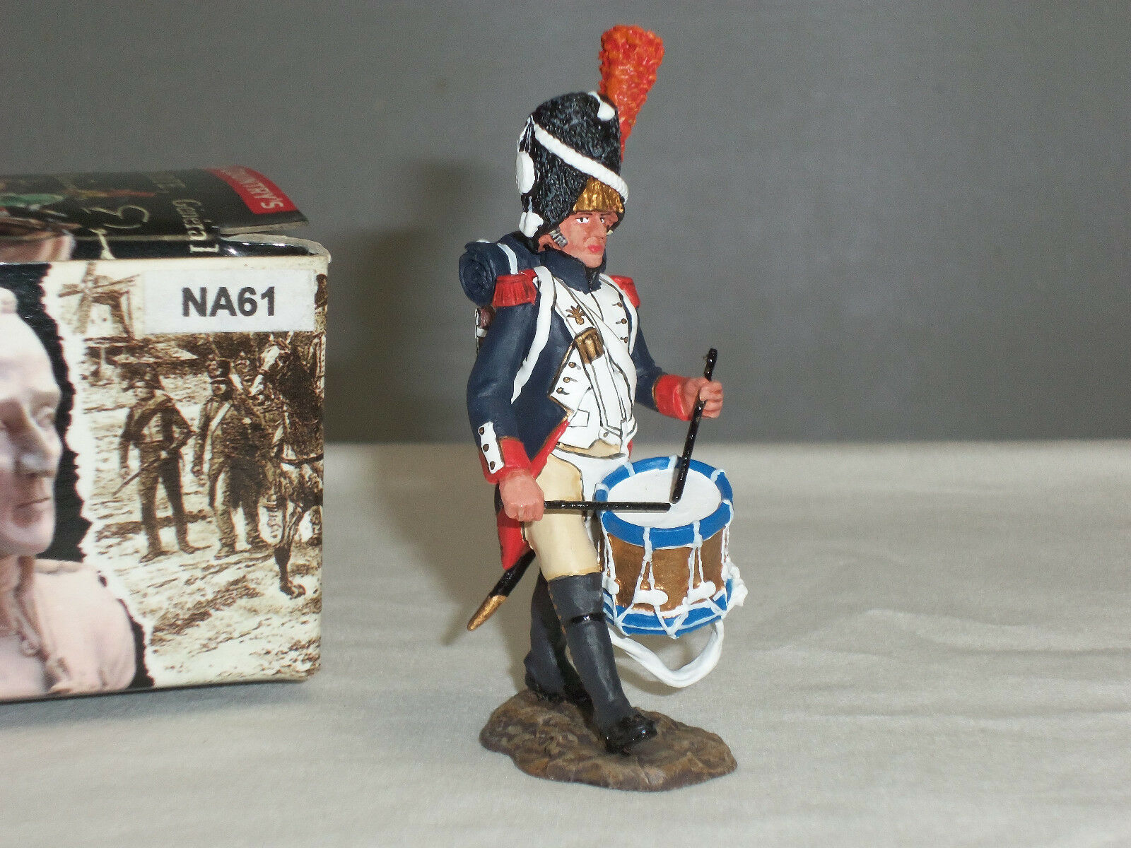KING AND COUNTRY NA61 FRENCH OLD GUARD DRUMMER NAPOLEONIC WAR METAL TOY SOLDIER