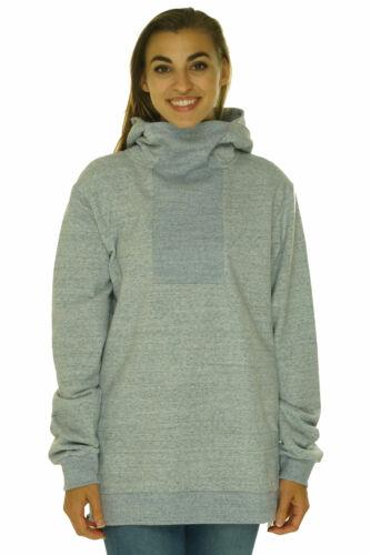 Onepiece Women/'s Pullover Cowl Neck Hooded Sweatshirt Light Blue Size Medium