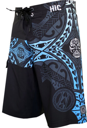 "FREE SHIPPING HIC Mens Beach 21/"" Kanaha 8 Way Stretch Quick Drying Board Shorts"