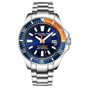 Stuhrling-3950-Men-039-s-Depthmaster-Aquadiver-Miyota-Japanese-Quartz-10-ATM-Watch