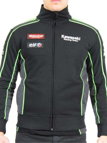 Official Kawasaki Motocard Team  Black//Green Zip Up Sweatshi 16 21502