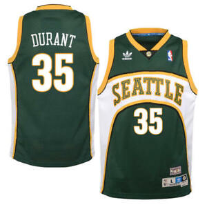 new style e46a1 de8ff Details about Kevin Durant Seattle Supersonics Adidas Throwback Basketball  Jersey M, XL