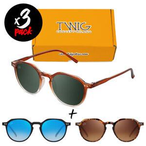 Tris occhiali da sole TWIG Pack MAILER [Premium] uomo/donna tondi vintage