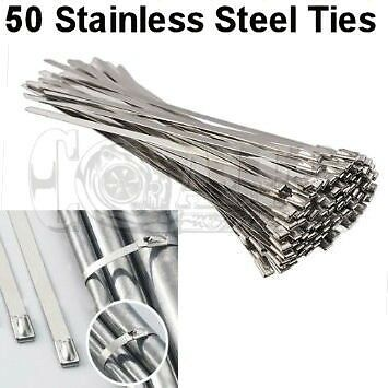 """2/"""" X 25/' Green HEAT WRAP STAINLESS CABLE ZIP TIE STRAPS EXHAUST PIPE HEAVY NEW"""
