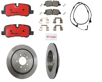 For Land Rover LR3 4.0 Brembo Complete Front Brake Rotors Kit /& Pads Sensor