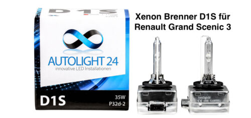2 x Xenon Brenner D1S Renault Grand Scenic 3 III Lampen Birnen E-Zulassung