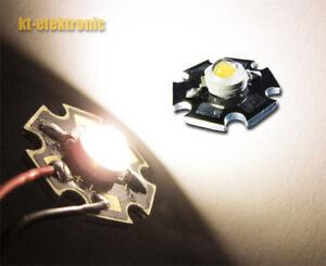 Imax=350mA 5x 1W Power LED warm-weiß 2700K-3200K 100 lm Starplatine Uf=3,3V