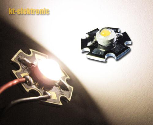 STAR SCHEDA 5x 1w Power LED bianco caldo 2700k-3200k 100 LM uF = 3,3v Imax = 350ma