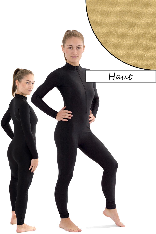 Damen Ganzanzug Front-RV Haut Sport Voltigieranzug stretch elastisch shiny