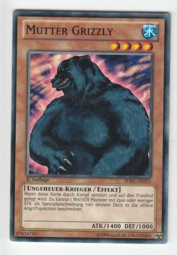 YU-GI-OH Mutter Grizzly COmmon SDRE-DE021