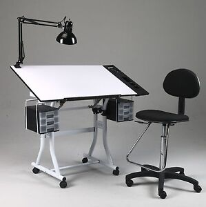 Image Is Loading Drawing Art Hobby Craft Table Desk W Drawers