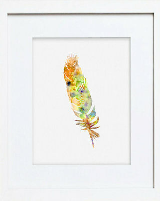 Picture Yellow Feather 53We Watercolour Art Print of Original Painting