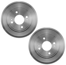 Set of 2 Brembo Rear Brake Drums /& Aftermarket Rear Brake Shoes For Honda Civic
