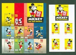 Portugal-2018-90-Jahre-Micky-Maus-Disney-Mickey-Mouse-Satz-MH-komplett