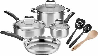Cuisinart 10-Piece Stainless Steel Cookware Set