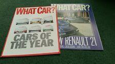 1986 1987 RENAULT 21 Saloon Savanna WHAT CAR? 2x DIFFERENT SUPPLEMENTS BROCHURE