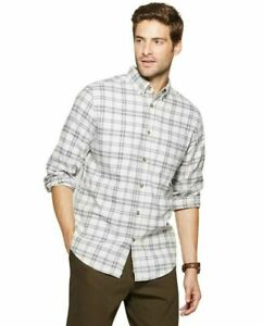 Goodfellow-amp-Co-Men-039-s-Standard-Fit-1-Pocket-Flannel-Long-Sleeve-Gray-Small