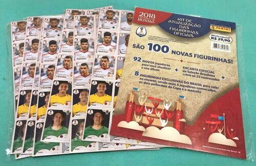 PANINI WORLD CUP 2018 RUSSIA UPDATE 100 STICKERS SET BRASILIEN