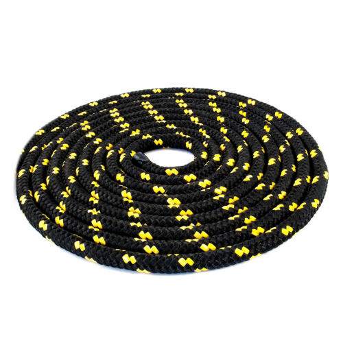 8 mm Braided Polypropylene Poly Rope Cord Boat Yacht Sailing Black with spots
