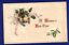 ANTIQUE-NEW-YEAR-POSTCARD-HORSESHOE-HOLLY-ST-LOUIS-MISSOURI-1915 thumbnail 1