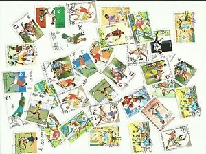 Football-themed-postage-stamps-used-x-54