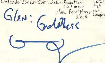 Movies Cards & Papers Orlando Jones Actor Comedian Evolution Movie Autographed Signed Index Card