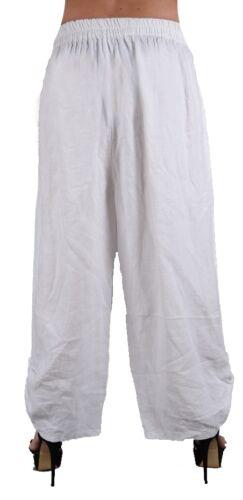 44 50 Adulto Summer Xl Wide Pants spiaggia L 46 3xl Haremshose Xxl Dsmen 48 Linen 52 Bianco HxXO8P