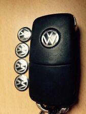 5x VW KEY FOB BADGE STICKER DECAL EMBLEM GOLF JETTA POLO Mk4 TDI GTI 14MM BLACK