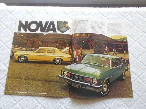 NOS 1974 CHEVROLET NOVA CUSTOM SS DEALER BROCHURE