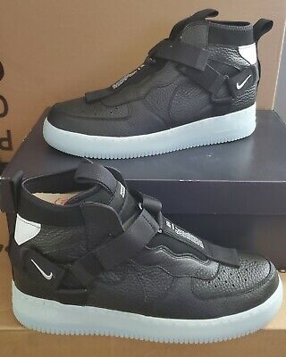 New Authentic Nike Air Force 1 Utility Mid Black Half Blue Men S